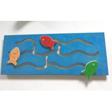 Wooden Fish Looking for Home Wall Game Toy for Kids and Children