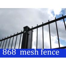 Negro Color 868 soldado malla de panel de la cerca