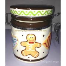 Keramik Handfarbe Old Tyme Keeper Kanister
