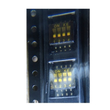 Switch DIP OFF ON SPST 4 Recessed Slide 0.025A 24VDC Gull Wing 1000Cycles 1.27mm SMD T/R RoHS TDA04H0SB1R