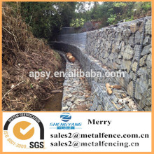 2mX0.5mX0.5m galvanized Galfan 3mm welded Gabion stone basket fence for river erosion defence and seating area
