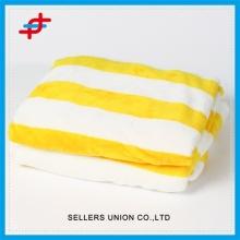 100% Polyester Stripes Printed Super Soft Flannel Blanket