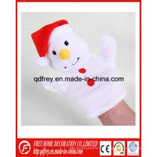 Navidad de vacaciones de promoción de juguete de muñeco de nieve mano títere