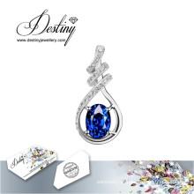 Destino joias cristal de Swarovski colar pingente de videira