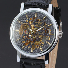 high quality men mechanical watch with skeleton design