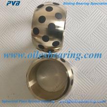 Rodamiento esférico de bronce esférico AB-2, casquillo llano esférico oiles para casquillo esférico métrico, casquillo esférico JM7-15