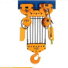 Low Cost for Chain Fall Hoist 15 Ton Electirc Chain Hoist with Schneider Contactor supply to Palau Supplier