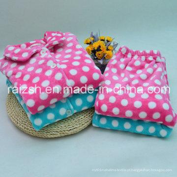 Pijama de roupão de flanela supersuficiente para senhoras