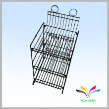 Supermarket supplies metal wire 3 tiers retail candy display rack
