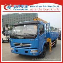 DFAC hydraulic boom 3.2 ton XCMG crane on truck lorry crane