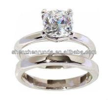 Bague en acier inoxydable à gros bon marché, anneau de doigts à double anneau pour anneaux