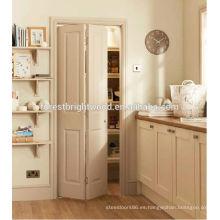 3 panel Archtop Primer moldeado casa Interior puertas plegables