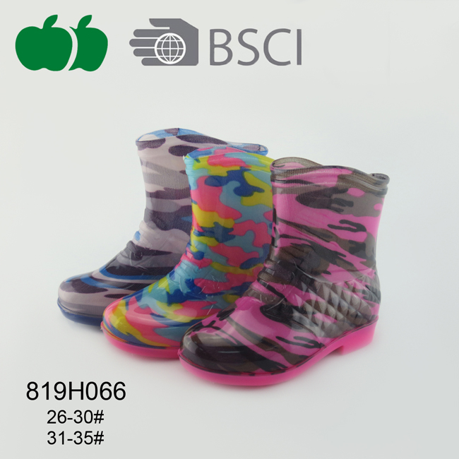 Popular Children Fashion Colorful Rain Boots