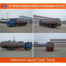 Caminhão-tanque químico químico Faw 6X4