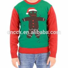 Camisola do feriado da camisola do Natal do motivo de Ninja do biscoito 15CSU083