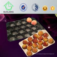 Empaquetado de blíster termoformado 23X38cm, 39X59cm Bandeja estándar de inserción de tomate PP negro de seguridad alimentaria