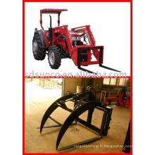 Mettez la fourche de palette sur le chargeur pour votre plus grand usage de tracteur
