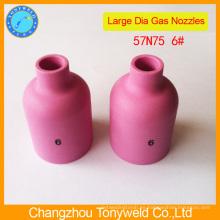 57N75 boquilla de cerámica para la antorcha tig