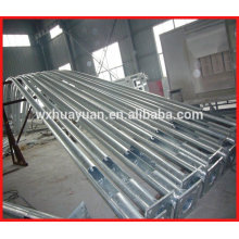 hot dip galvanized steel poles with curved arm