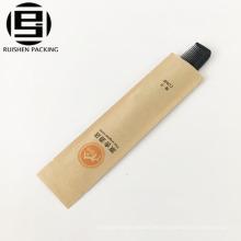 Bolso de papel del peine de la crema dental del cepillo de dientes de la etiqueta privada de la calidad superior