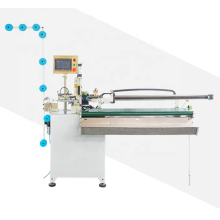 Automatic zig-zag cutting machine with puller