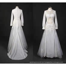 Mode muslimischen langen Abend Brautkleid Meerjungfrau Hochzeitskleid Wy7332