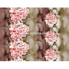 Прекрасные дизайны, полиэфирная пигментная ткань, трехмерная дисперсионная ткань для печати