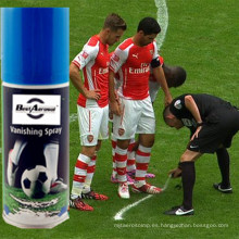 Vanishing Foam Fair Play Árbitro Vanishing Foam Marking Spray Temporal Foaming Marking Spray para fútbol, ​​partido de fútbol