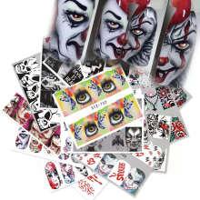 25pcs/set Halloween Festival Pumpkin Dragon Finger Nail Art Sticker Decals for Nail Art Decorations