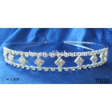 New fashion wholesale rhinestone crystal tiaras with metal
