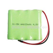 Paquete de batería recargable de 4.8V batería recargable de NiMH aa