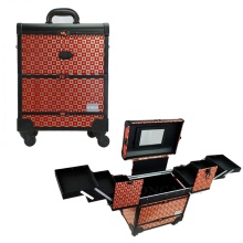 High end professional cosmetic makeup storage cases
