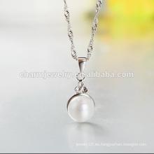 Pequeña plata de la perla 925 vendedora caliente en el país occidental 2016 SCR016 al por mayor