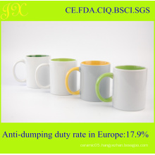 11oz Top Grade Sublimation Inner & Handle Color Coated Mug on Sale
