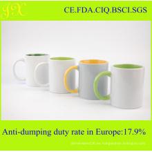 11oz Top grado Sublimación Inner & Mango Color Coated Mug en venta