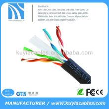 1000 'Ft Bulk 24 AWG Twist Pair de red sólida Ethernet cat6 utp cable lan para 10m / 100m / 1000m