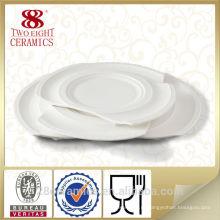 Оптовая продажа фарфоровых изделий, запасов ресторан тарелка, керамическая тарелка