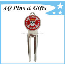 Hard Enamel Golf Divot Tool in High Quality (Golf-14)