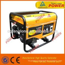 2000w low fuel consumption portable LPG gasoline generator set in hot sale