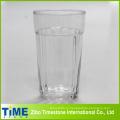 Copa de jugo de vidrio grande con tiras verticales (15052102)