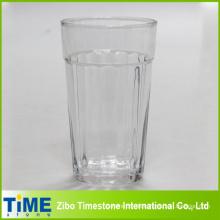 Großer Glassaftteller mit Vertikalstreifen (15052102)