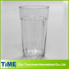 Grande copo de suco de vidro com tiras verticais (15052102)