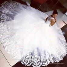 Hot Sale vestidos de novia Beach Bridal Gowns Puffy Lace Wedding Dress 2016 CWFw2380