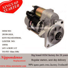 4.5kw 24V Hino Reduction Starter Exporteur (281002622B)