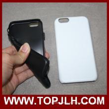 PC + suave foto impresión sublimación en blanco teléfono TPU para el iPhone 6/6s