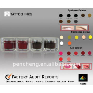 Eyebrow Tattoo Ink & Permanent Body Pigment Supply (paste)
