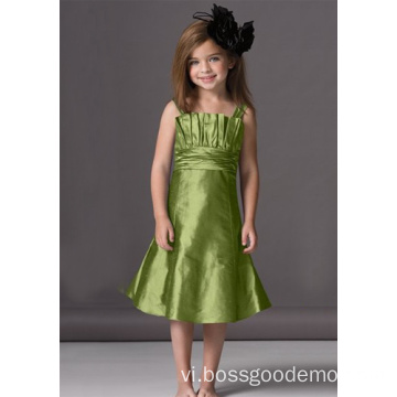 A-line Scalloped Neckline Flower Girl Dress