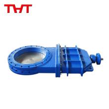 Válvula de compuerta de cuchilla asentada resistente de hierro dúctil superior dn1000