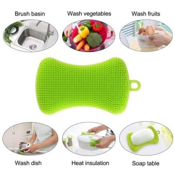Multi Purpose Silicone Kitchen Cleaning Scrubber