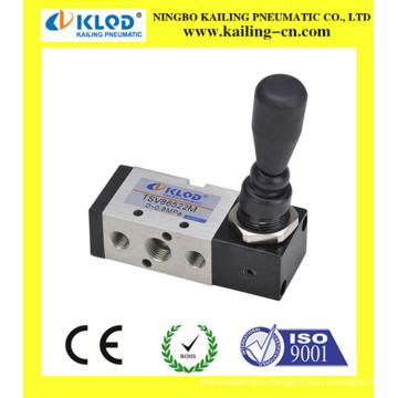 manual three way valve, hand pull valve
